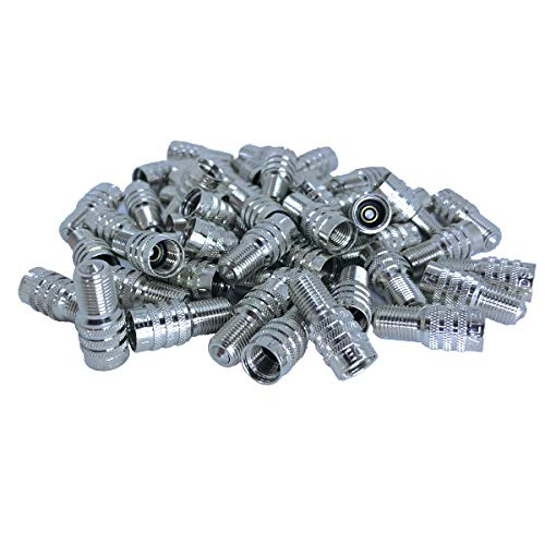 Haltec Pack of 50 Double Seal Inflate Through Valve caps for Trucks RV and Semis
