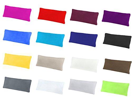NatureMark 2er Pack Jersey Kissenbezug Kissenhülle Kissenbezüge Seitenschläferkissen Nackenkissen viele Größen und Farben ÖKO-TEX (40 x 60 cm (Nackenkissen geeignet), Anthrazit grau)