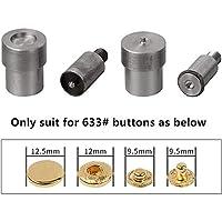 DIYアクセサリー 金属プレススナップファスナーボタンのための633 / 201Buttons金型のダイはスナップボタンが死ぬ、DIYレザー衣料品ベルトリベット、ボタンのノズル ボタン (Color : 633 Die)