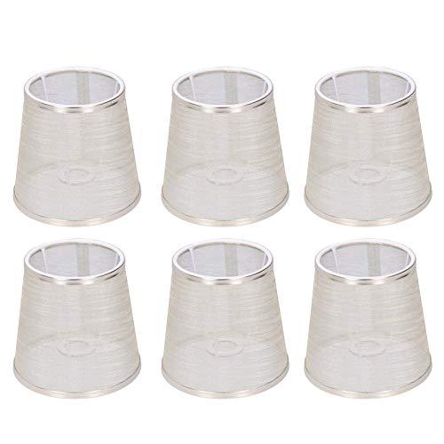6 uds pantalla de lámpara para el hogar cubierta de luz con Clip de forro de tela transparente para lámpara de pared de araña E14 suministros para el hogar