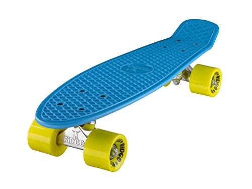 Ridge Skateboard Mini Cruiser, blau-gelb, 22 Zoll, R22