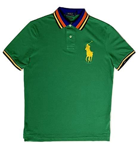 Ralph Lauren Polo Classic Fit Big Poly Mesh Polo Shirt (Green Mu, Small)