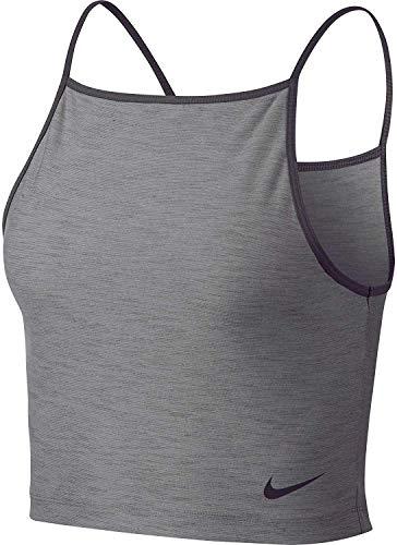 Nike Damen Cropped Dri-Fit Tanktop Grau XS