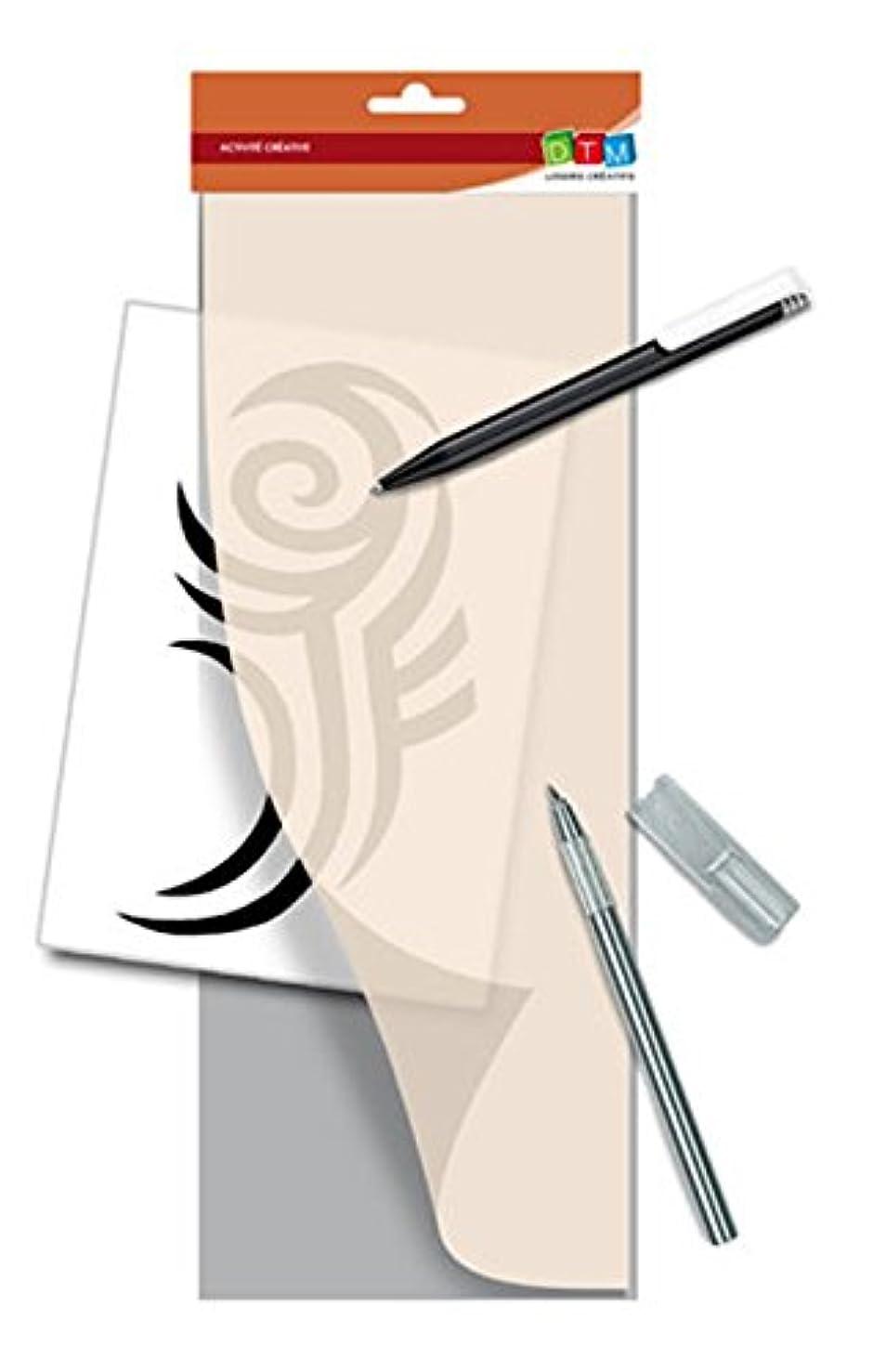 Creative 226025?Bean Stencil Decor Gray Plastic 15.5?x 0.1?x 47.5?cm