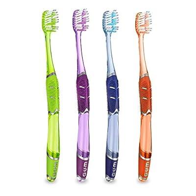 GUM Technique Deep Clean Toothbrush, Compact Soft Bristles, Item 525 Professional Samples, 12 Count