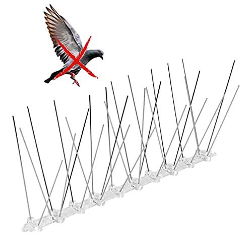 ZhengZ Sistema Anti Pájaros de Acero Inoxidable,Anti Palomas,Pinchos Antipalomas Acero Inoxidable, 3.5m Espanta Palomas Pinchos
