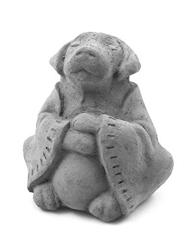 Modern Artisans Meditating Dog - Cast Stone Desk Pet