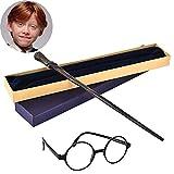 La colección Noble Ron Weasley Wand Sirius Black Wand con Las Gafas de Harry Potter en Ollivanders Box Harry Potter Film Set Movie Aparts Varilletas,D