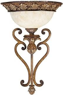 Livex Lighting 8460-57 Savannah 1 Light Venetian Patina Wall Sconce with Vintage carved Scavo Glass (Renewed)