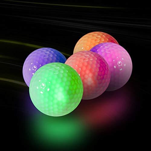 Luminous Flashing Golfbälle leuchten for Nachtausbildung Sports glänzende Kugel im Dunkeln leuchten Long Distance Schießen (Color : Shining Blue)