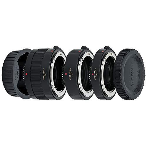 JJC (Set 12mm/20mm/36mm) Automatica (AF) Metallo Tubo di Prolunga con Messa a Fuoco con Esposizione TTL per Fotografia di Immagini Ravvicinate per Obiettivi e Fotocamere DSLR Nikon F