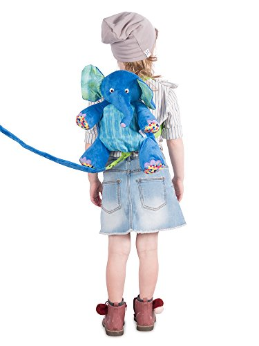 Eric Carle The Very Hungry Caterpillar Backpack Harness Elephant Polyester Elephant Backpack Children Backpack Blue