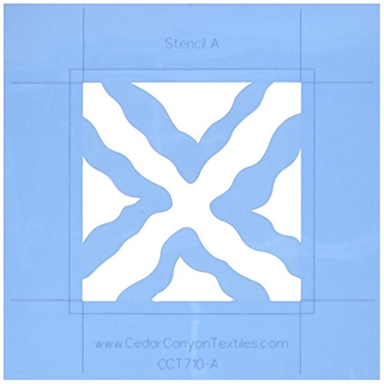 Cedar Canyon Textiles Wavy Squares DesignMagic Stencil Set for Shiva Paintstiks-2/Pkg.