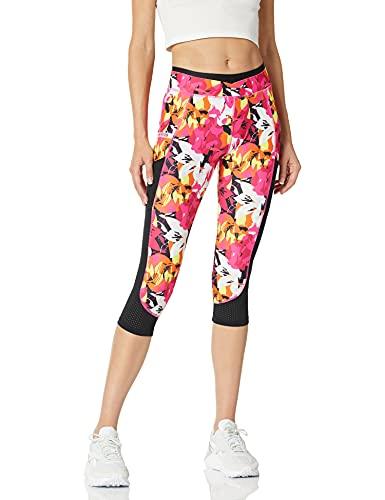 2(X)IST Women's Performance Capri Legging Pants, Abstract Floral/Pink, M