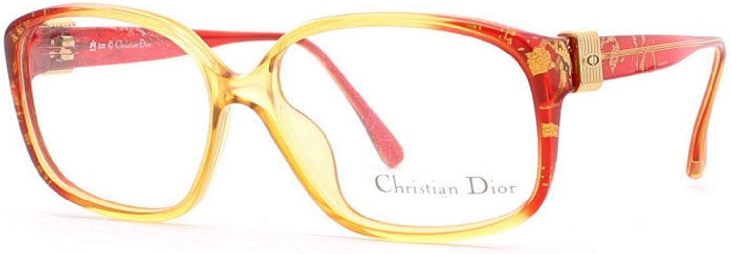 Christian Dior 2638 31 Red and Yellow Authentic Women Vintage Eyeglasses Frame