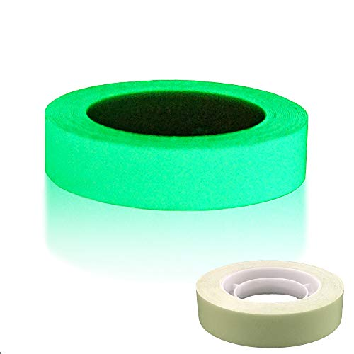 DUOFIRE Luminous Tape Sticker,9.84' Length x 0.47' Width (1.2cm3m) High Luminance Glow Removable...