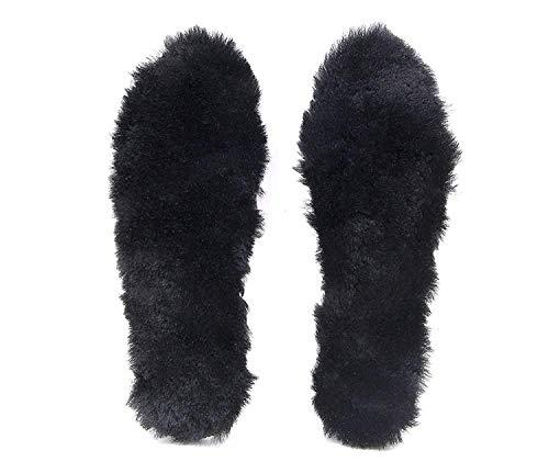 AMARISE ウールインソール 天然羊毛100%使用 防寒 保温 男女兼用 ブラック 26.5~27.0 cm