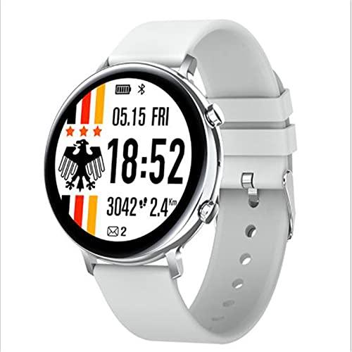LOVOUO 2021 (Seguimiento de Fitness a Prueba de Agua IP68, Monitor de presión Arterial / frecuencia cardíaca, podómetro de monitorización del sueño) Reloj Inteligente Deportivo de 1,28