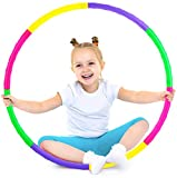 ILNCLUY Kids Exercise Hoops, Detachable Adjustable Size Weight Kids Colorful Hoops Ring, Suitable for Girls, Boys Fitness and Pet Training