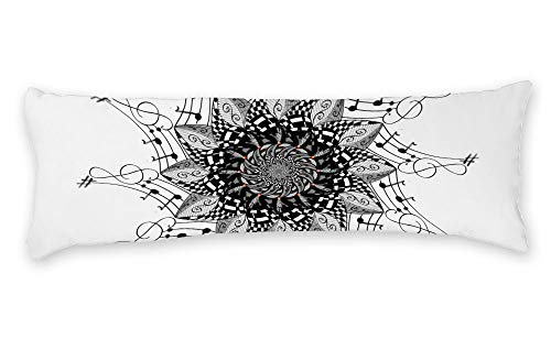 AILOVYO Nero Mandala Silky Shiny Satin Long Body Pillow Case Home Decor 50,8 x 137,2 cm