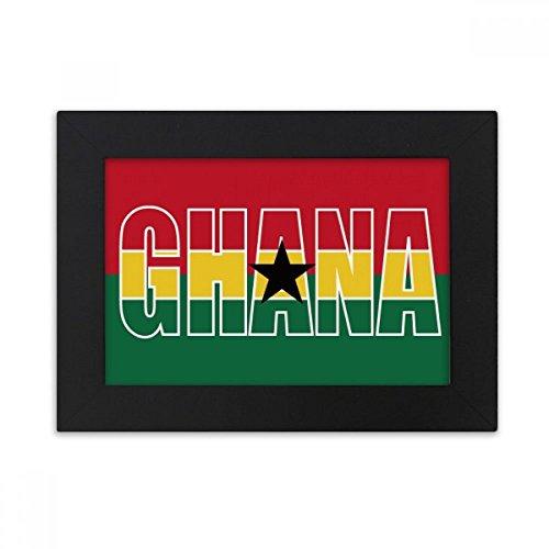 DIYthinker Ghana Land Flagge Name Desktop-Foto-Rahmen-Schwarz Bild-Kunst-Malerei Passt 10.2 x 15.2cm (4 x 6 Zoll) Bild Mehrfarbig