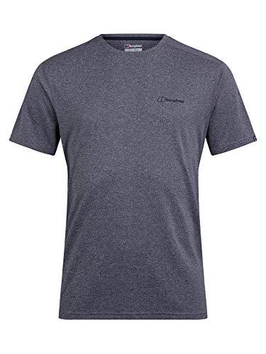 Berghaus Camiseta de Manga Corta para Hombre Explorer con Cuello Redondo y Capa Base