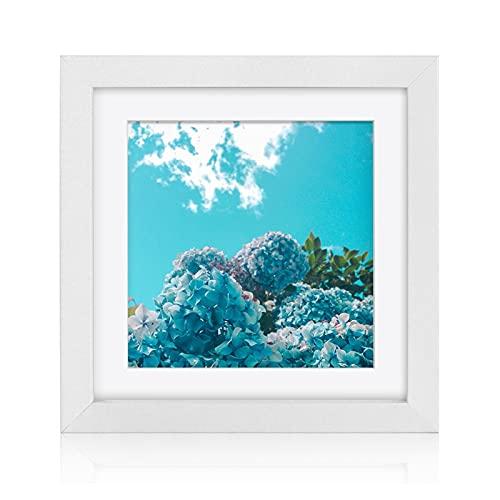 marcos fotos dia de la madre 12x12 8x8 cuadrado marco de fotos negro blanco 30x30 20x20cm Marcos de imagen con estera Nordic Simple Marco de madera Decoración de la casa arbol de la vida marco fotos
