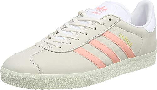 adidas Damen Gazelle Sneakers, Grau (Chalk White/still Breeze/Footwear White), 38 2/3 EU