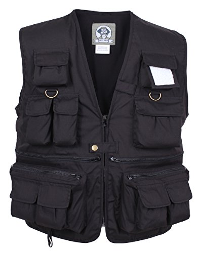 Rothco Uncle Milty Travel Vest, Black, Small