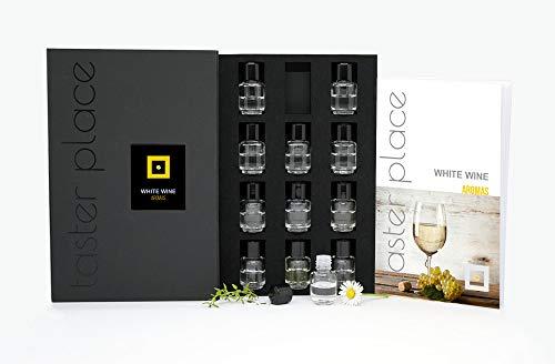 Aromas de vino blanco - Versión en inglés - kit de aromas para cata de vino. - para sumilleres y aficionados.
