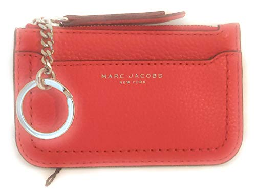 Marc Jacobs Schlüsselanhänger, Leder, 10 x 9 x 2 cm, Rot