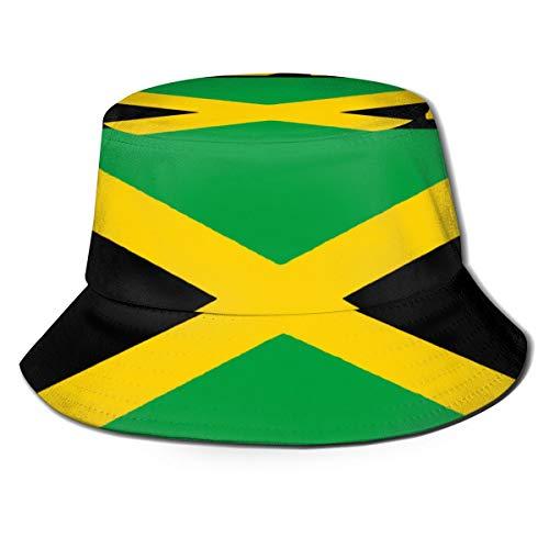 GAHAHA Bucket Hüte für Herren Sommer Reise Flagge Jamaika Outdoor Hut Atmungsaktive Sonne UV-Schutz Unisex Faltbare Fischerhut