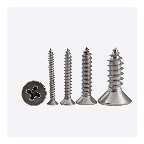 JINLI-CASE Screws Bolt M5 304 Screw Stainless Steel Standoff Cross Countersunk Head Self-Tapping Wood Small Laptop Micro Screw GB846 10Pcs (Color : 45mm, Size : M5 (10Pcs))