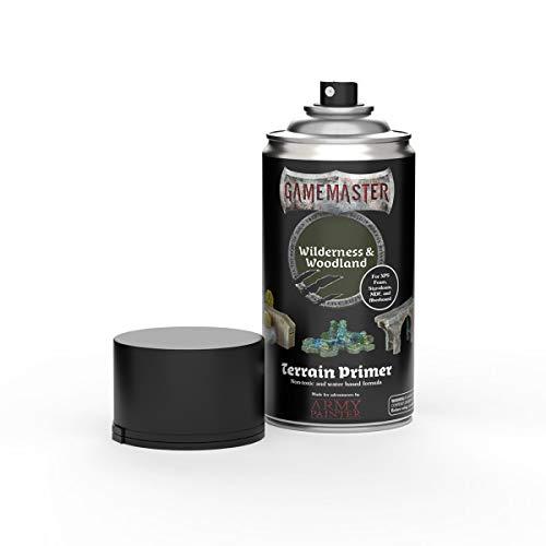The Army Painter | Gamemaster Terrain Primer | 400 ml | Espray de Pintura Acrílica | para Juego de guerra y de rol | escenografía para Wargames y figuras miniatura | Wilderness & Woodland