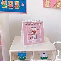 卓上カレンダー 学習アクセサリー、学校日記付き引き裂き可能なデスクトップカレンダーのために使用される卓上カレンダー2021卓上カレンダー、 カレンダー (Color : Pink)