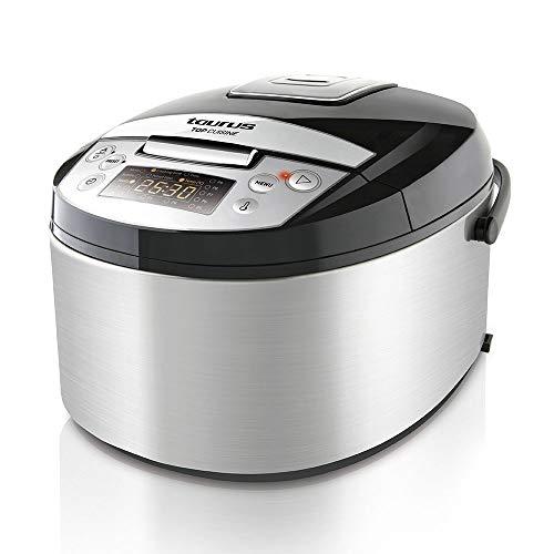Taurus Top Cuisine Máquina de cocinar programable, cubeta extraíble 5 L, 12 Temporizador 24h, programas Especiales, Plata