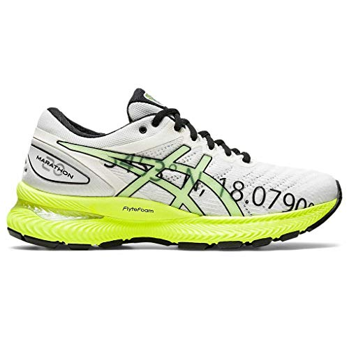 ASICS Gel-Nimbus 22, Zapatillas Deportivas Mujer, White/Safety Yellow, 40 EU