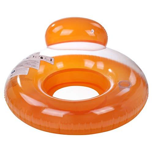Jilong Pool Lounge Orange Ø 118cm Poolsessel Schwimmsitz Wassersessel Wasser-Sofa mit Getränkehalter