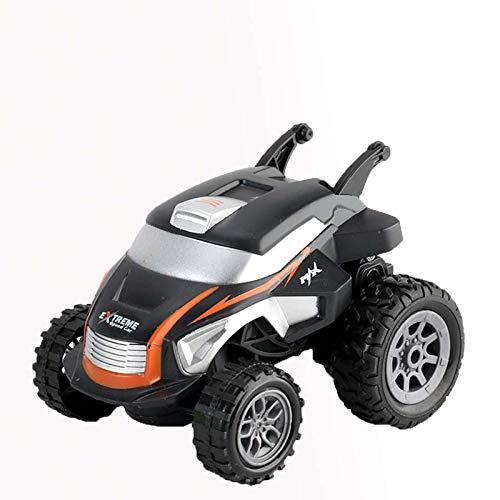 Mini coche de acrobacias de control remoto, reloj de control de simulación recargable de cuatro ruedas vehículo todoterreno, para niños y niñas