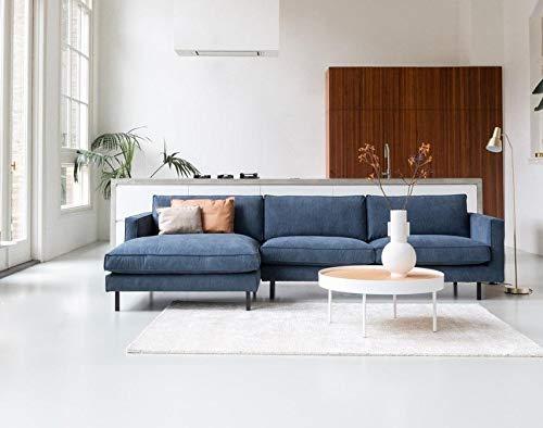 By SIDDE Ecksofa Mads 5 Jahre Fleckengarantie und Rückgaberecht - Skandinavisches Design (Cord 603 Blue)