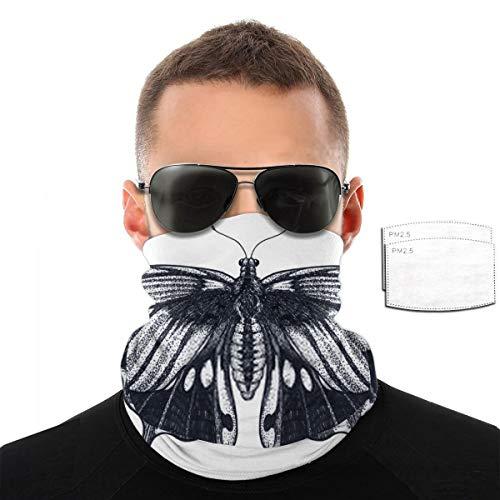 Kaswtrb Schmetterling Tattoo Design Tropischer Schmetterling Papilio Memnon Dotwork Tattoo Traditionelles Schwarzes Dot Style Ink Bandand mit Filtern für Männer & Frauen