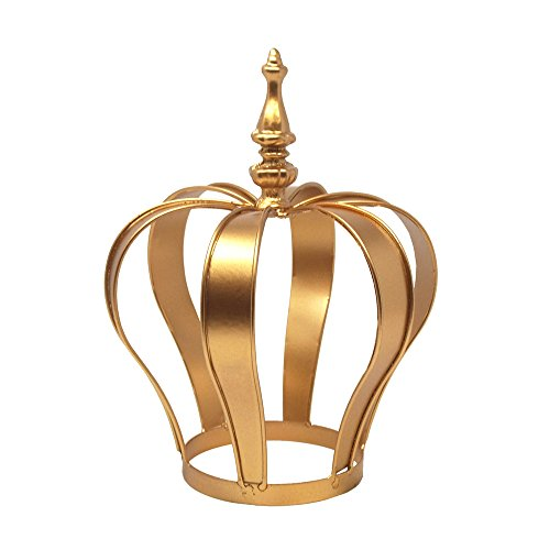 Homeford Gold Metal Crown Cake Topper Centerpiece, 8-1/2-Inch