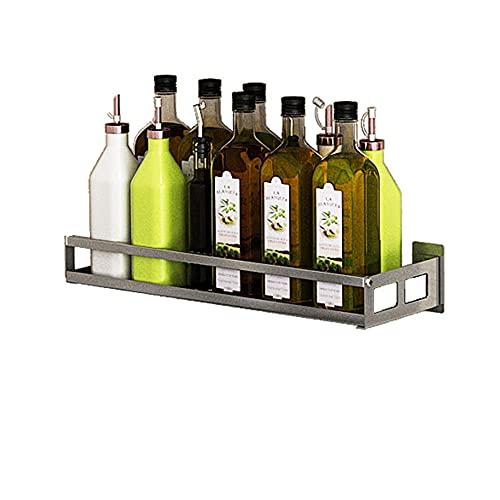 XGGYOOG Estante de Cocina Montado en la Pared, Spice Rack de Alta Capacidad para el Hogar, Soporte de Carga Fuerte, Desmontable/Lavable / 304 Stainless Steel / 20cm