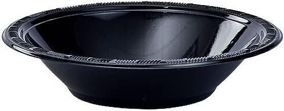 Hanna K. Signature Collection 50 Count Plastic Bowl, 12-Ounce, Black