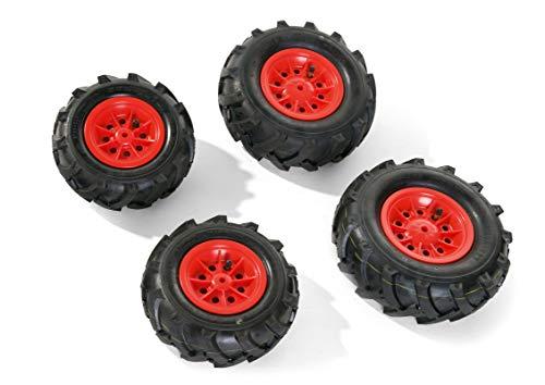 Rolly Toys - 40 985 3 - Accessoire Pour Véhicule - 2 Pneus Souples De 95 x 260 cm + 2 Pneus Souples De 325 x 110 cm - Jantes Rouges