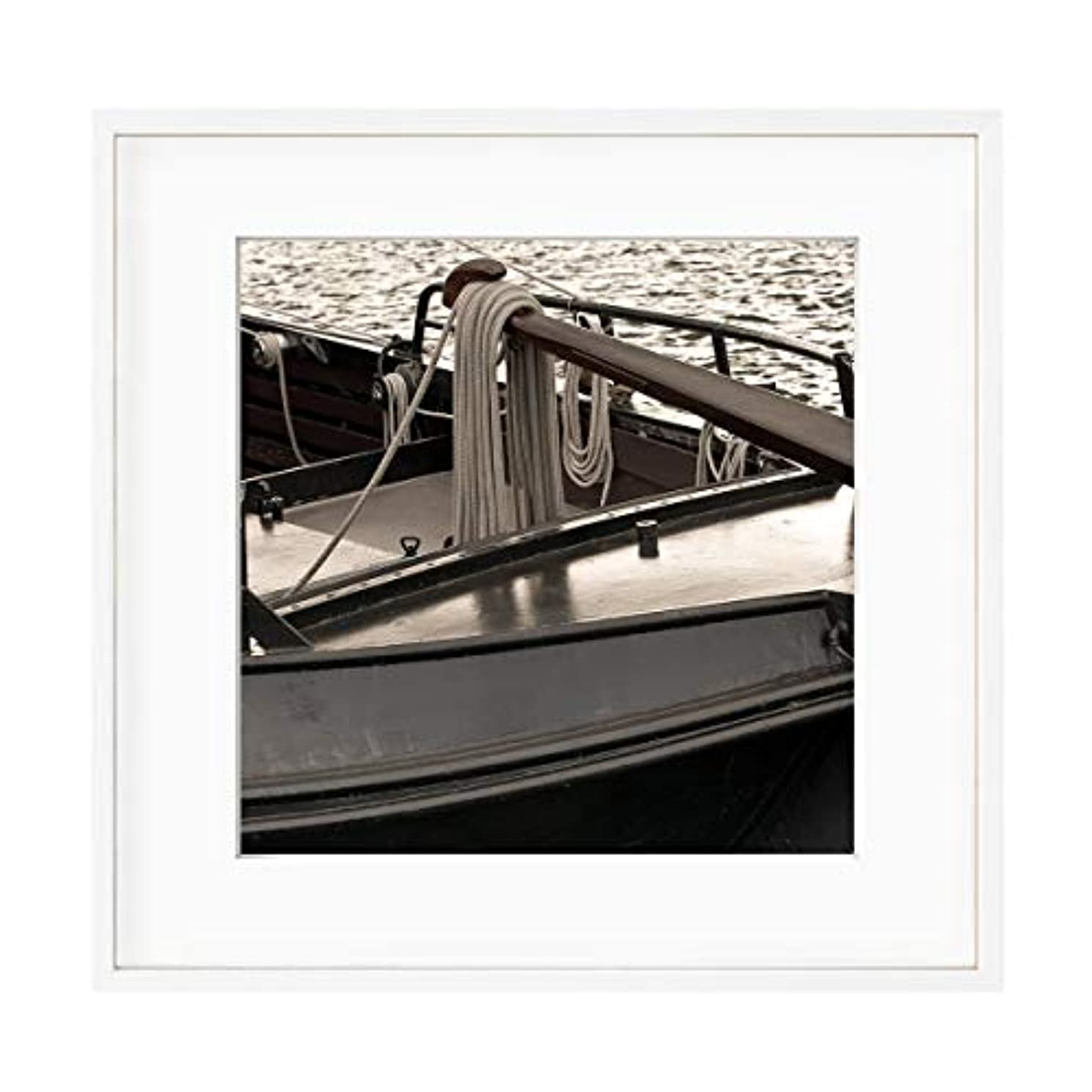 Dutch Boat, Aluminium Frame, with Mount, Multicolored, 50x50