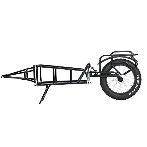 "QuietKat 20QKCTSW Rear Cargo Trailer, Single Track FatTire Off Road, 14""x 24"" Storage"