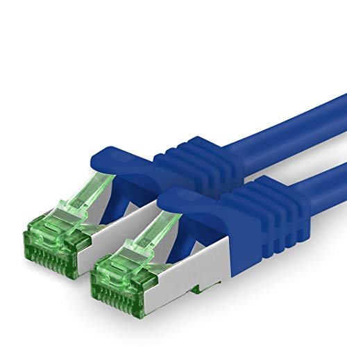 1aTTack.de Cat.7 netwerkkabel 20m - blauw - 1 stuk - Cat7 Ethernet kabel netwerk Lan kabel ruwe kabel 10 Gb s S-FTP PIMF set patchkabel met Rj 45 connector Cat.6a