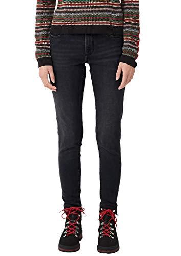 Q/S designed by - s.Oliver Damen 41.910.72.4932 Skinny Jeans, Black, (Herstellergröße: 40)