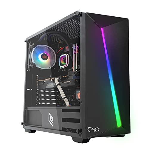 CeO-Tech Zeta V1 PC Gaming - Ryzen 3 4300GE Quad Core 4.00 GHz (Unlocked for Overclocking) | RAM 16GB DDR4 | SSD 240GB | RX Vega 6 (4000 Series)| Ultra HD 4K | Wi-Fi | Windows 10 PRO